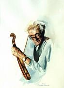 The Master And His Violin Print by Janet Ashworth