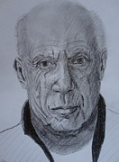 Faces Drawings - The Master by Dagmar Helbig
