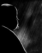 Black And White Art Digital Art - The Master Of Suspense by Bob Orsillo