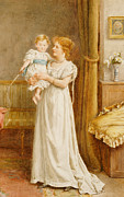 Mother And Baby Framed Prints - The Master of the House Framed Print by George Goodwin Kilburne