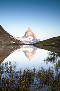 Zermatt Framed Prints - The Matterhorn in the mirror Framed Print by Matteo Colombo