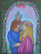 Horns Pastels - The May Queen by Diana Haronis