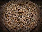 Mesoamerica Framed Prints - The Mayan Calendar Framed Print by Lee Dos Santos
