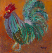 Rooster Art - The Mediator by Lynn Rattray
