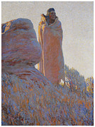 Medicine Painting Prints - The Medicine Robe Print by Maynard Dixon