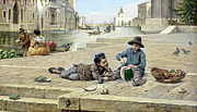 The Watermelon Boys Prints - The Mellon Seller Print by Antonio Paoletti