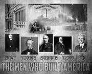 Rockefeller Posters - The Men Who Built America Poster by Peter Chilelli