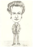 Baker Drawings Prints - The Mentalist Caricature Print by Conor Rafferty