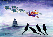 Susan Greenwood Lindsay - The Meows Ponder Santa