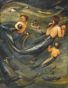 Edward Burne-Jones - The Mermaid Family by Edward Burne-Jones