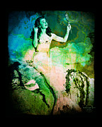 Mermaid Artwork Digital Art - The Mermaid Mirror by Absinthe Art By Michelle LeAnn Scott