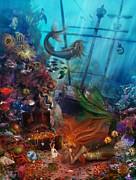 The Mermaids Treasure Print by Aimee Stewart