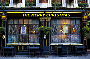 Father Christmas Prints - The Merry Christmas pub Print by David Pyatt