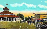 Amusement Parks Paintings - The Merry-go-round At Crescent Park In Providence Ri In 1910 by Dwight Goss