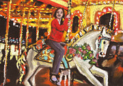 Paul Mitchell Acrylic Prints - The Merry Go Round Acrylic Print by Paul Mitchell