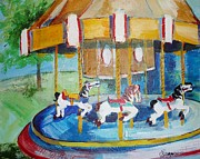 Suzanne Willis Metal Prints - The Merry-Go-Round Metal Print by Suzanne Willis