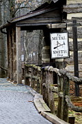 Claire Pieron Posters - The Metal Smith Shop at Michie Tavern - Charlottesville VA Poster by Claire Pieron