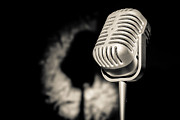 Jazzy Prints - The Mic Is Yours Print by Semmick Photo