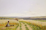 Harvest Prints - The Midday Rest  Print by Jean F Monchablon