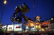 State Fair Photo Prints - The Midway Print by Jeff  Swan