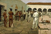 1842 Paintings - The Mier Expedition - Drawing the Black Bean by Pg Reproductions