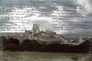 Martyr Digital Art Posters - The Mighty Corfe Castle Poster by Jacqui Forster
