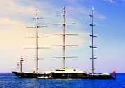 Yacht Photos - The Mighty Maltese Falcon by Karen Wiles