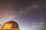 Mercedes Prints - The Milky Way Above An Observatory Print by Luis Argerich