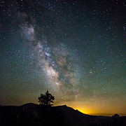 Mike Lee Metal Prints - The Milky Way meets the Aspen Fire Metal Print by Mike Lee