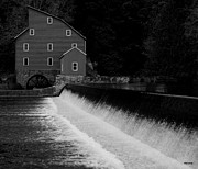 Grist Mills Posters - The Mill by the Falls Poster by Val Arie