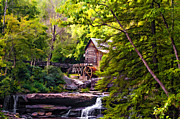 Grist Mill Digital Art - The Mill paint by Steve Harrington