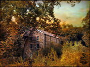 Ny Landscape Digital Art Posters - The Mill Restoration Poster by Jessica Jenney
