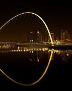 The Millenium Bridge At Night Print by Stephen Taylor