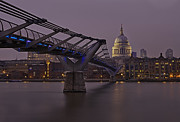 Pete Reynolds Metal Prints - The Millennium Bridge Metal Print by Pete Reynolds