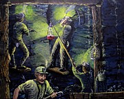 Miners Paintings - The miners way by Carey MacDonald