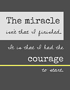 Courage Digital Art Metal Prints - The Miracle Metal Print by Marianne Beukema