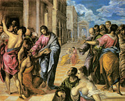 Healing Paintings - The Miracle of Christ Healing the Blind by El Greco