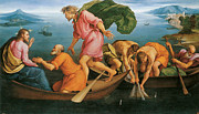 Draught Prints - The Miraculous Draught of Fishes Print by Jacopo Bassano