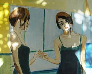 Emotive Prints - The Mirror Has Two Faces2 Print by Judy Kay