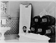 Bootleg Posters - The Mishaps of Musty Suffer - Bathtub of Beer Poster by George Kleine