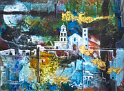 Mission Mixed Media Prints - The Mission Print by Patricia Allingham Carlson