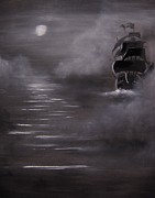 Pirate Ships Painting Originals - The Mist by Eugene Budden