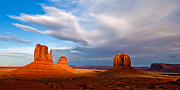 Desert Landscape Prints - The Mittens Magical Light Print by Peter Tellone