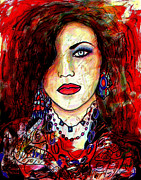 Chin Mixed Media Posters - The Model Poster by Natalie Holland