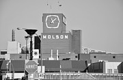 Montreal Streets Metal Prints - The Molson Clock Montreal Metal Print by Reb Frost