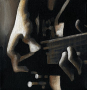 Guitar Player Paintings - The Moment by Natasha Denger