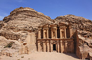 The Monastery At Petra Print by Robert Preston
