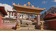 Mt Everest Base Camp Prints - The Monastery in the Heavens Print by Kristin Lau