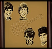Musical Film Framed Prints - The Monkees  Framed Print by Movie Poster Prints