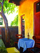 Wine Bottle Paintings - The Monks Vineyard by Caroline Conkin